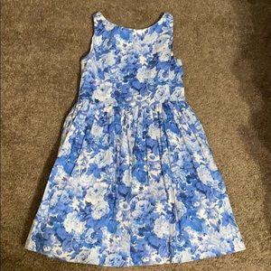 Ralph Lauren blue and white floral dress